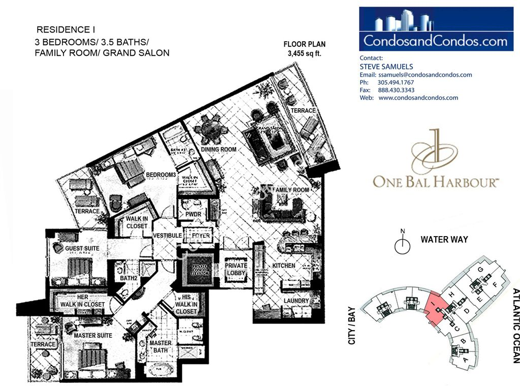 One Bal Harbour - Unit #I with 3455 SF
