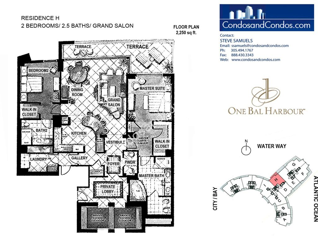One Bal Harbour - Unit #H with 2250 SF