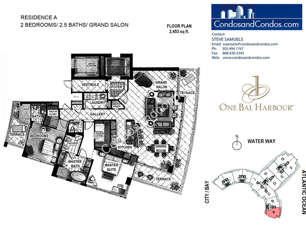 One Bal Harbour - Unit #A with 2453 SF