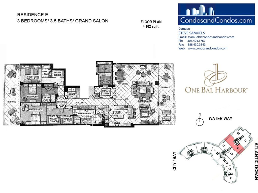 One Bal Harbour - Unit #E with 4162 SF