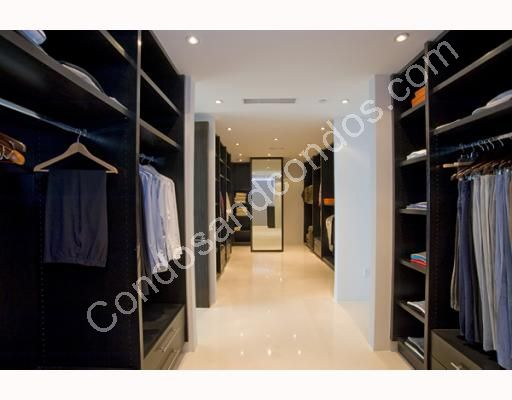 Huge walk-in closets