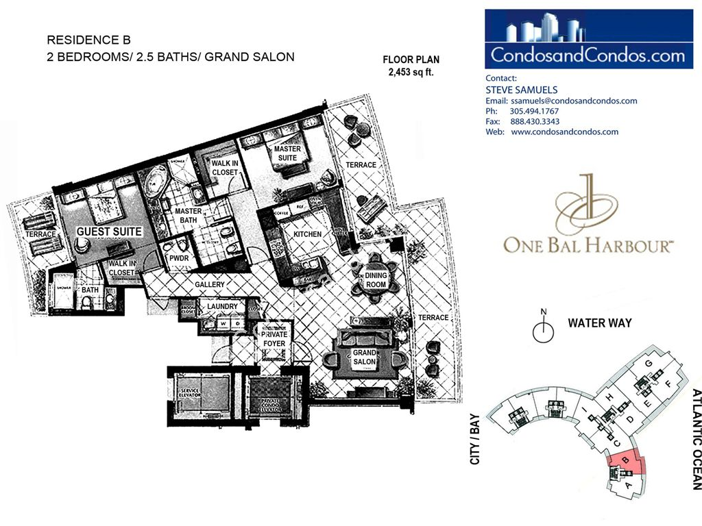 One Bal Harbour - Unit #B with 2453 SF