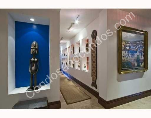 Private gallery with studio lighting