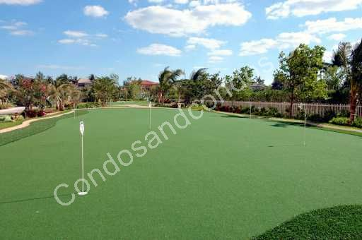 Private putting green for residents
