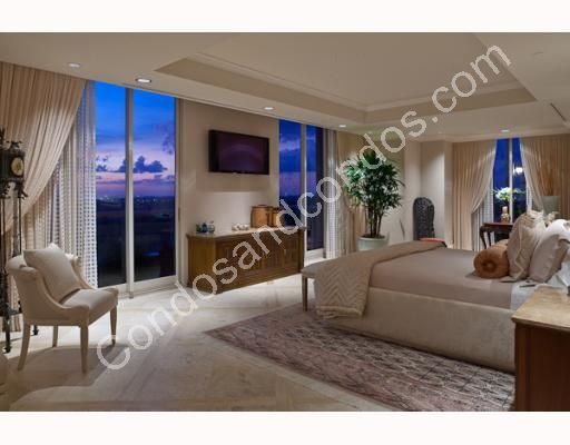 Elegant master suite over looking the city