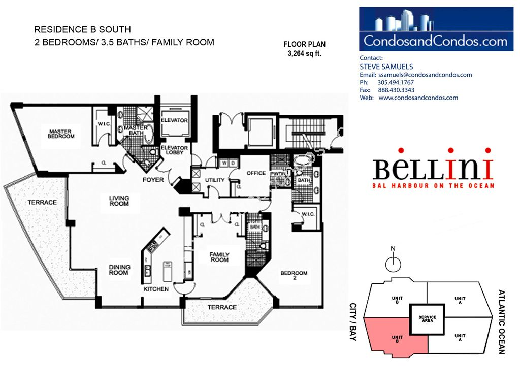 Bellini - Unit #B South with 3264 SF