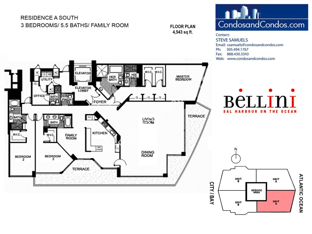 Bellini - Unit #A South with 4543 SF