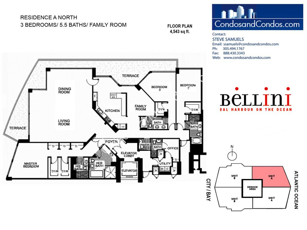 Bellini - Unit #A North with 4543 SF