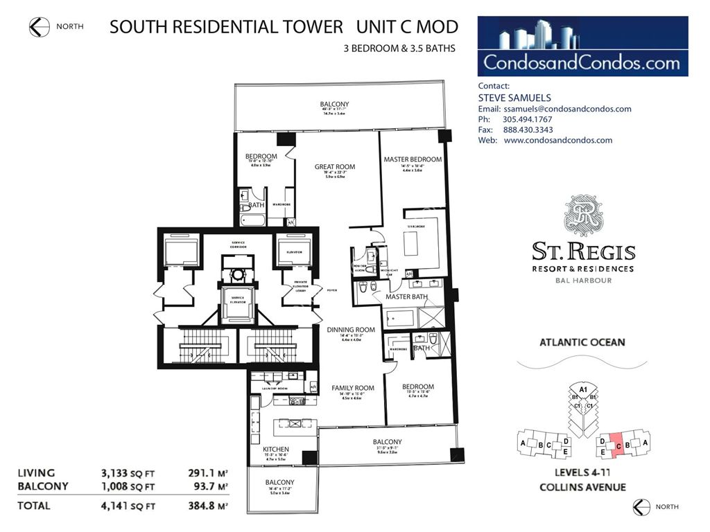 St. Regis Bal Harbour - Unit #C South with 4530 SF