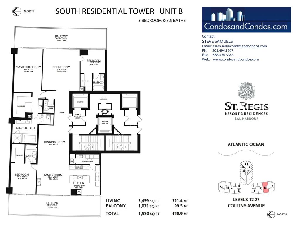St. Regis Bal Harbour - Unit #A South with 5016 SF
