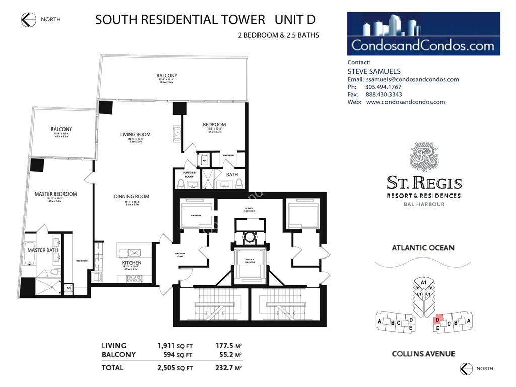 St. Regis Bal Harbour - Unit #C Mod South with 4141 SF