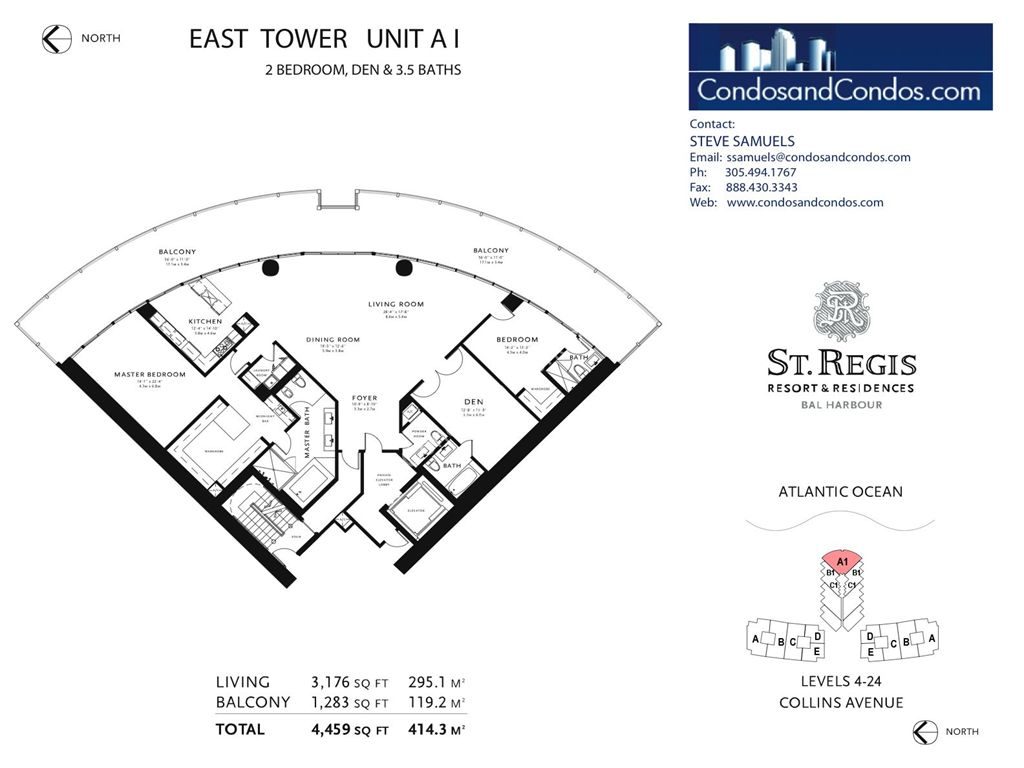 St. Regis Bal Harbour - Unit #AI with 4459 SF
