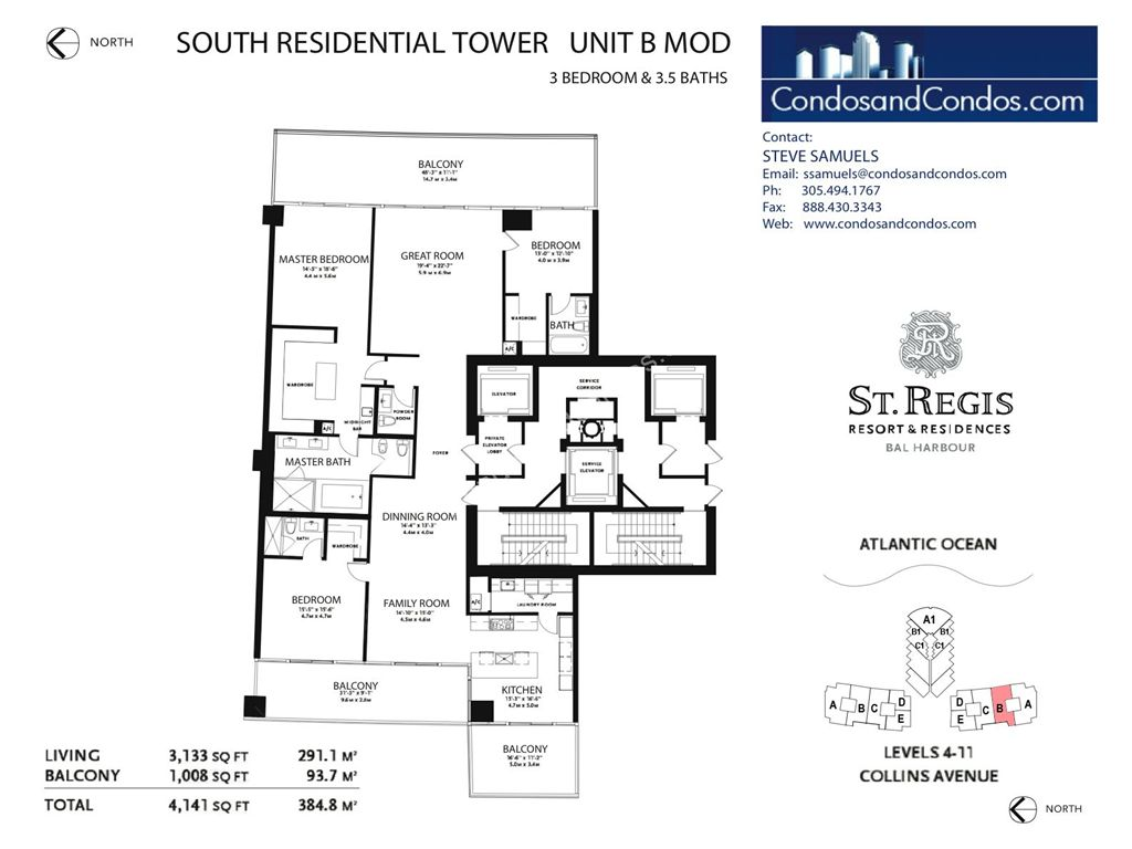 St. Regis Bal Harbour - Unit #B South with 4530 SF