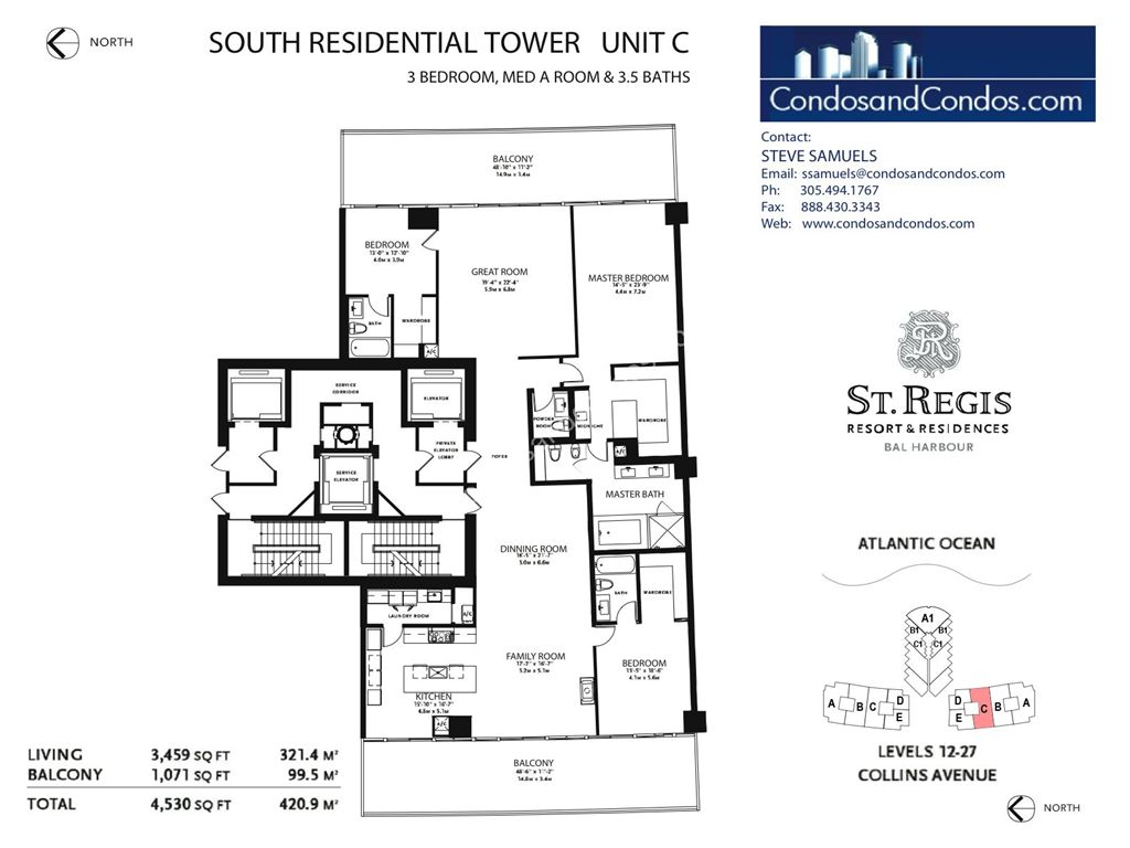St. Regis Bal Harbour - Unit #B Mod South with 4141 SF