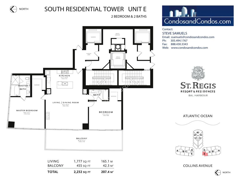 St. Regis Bal Harbour - Unit #D South with 2505 SF