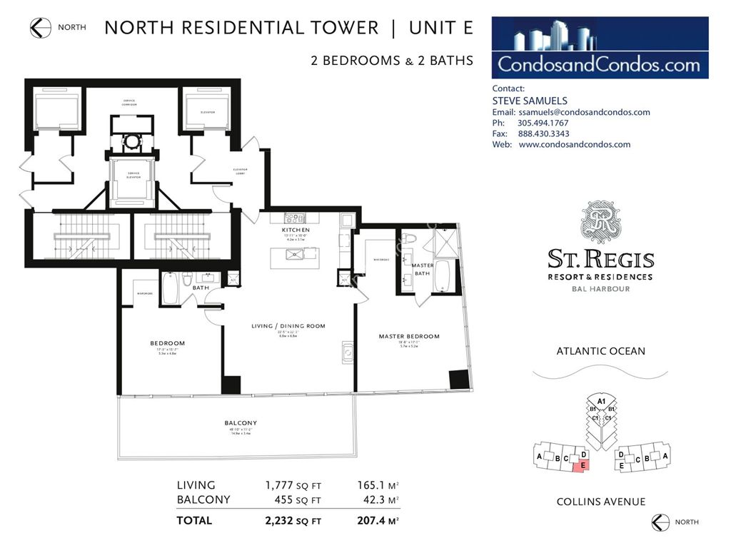 St. Regis Bal Harbour - Unit #D North with 2505 SF