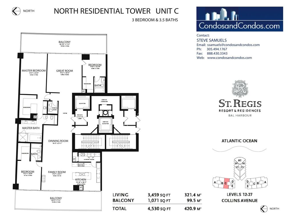 St. Regis Bal Harbour - Unit #B Mod North with 4141 SF