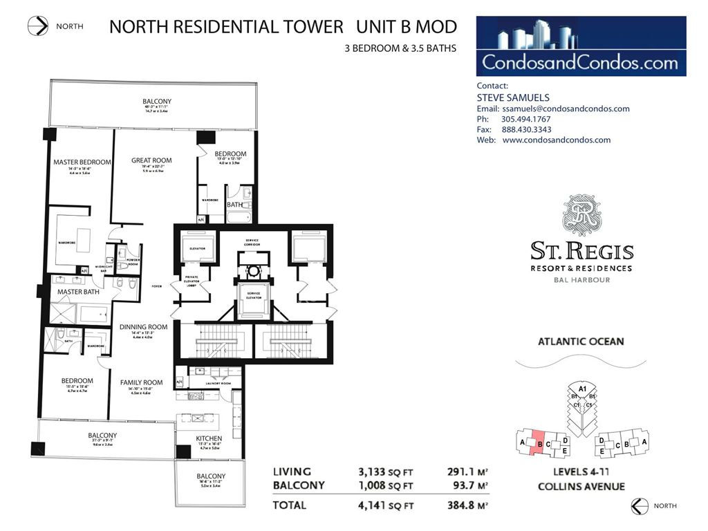St. Regis Bal Harbour - Unit #B North with 4530 SF