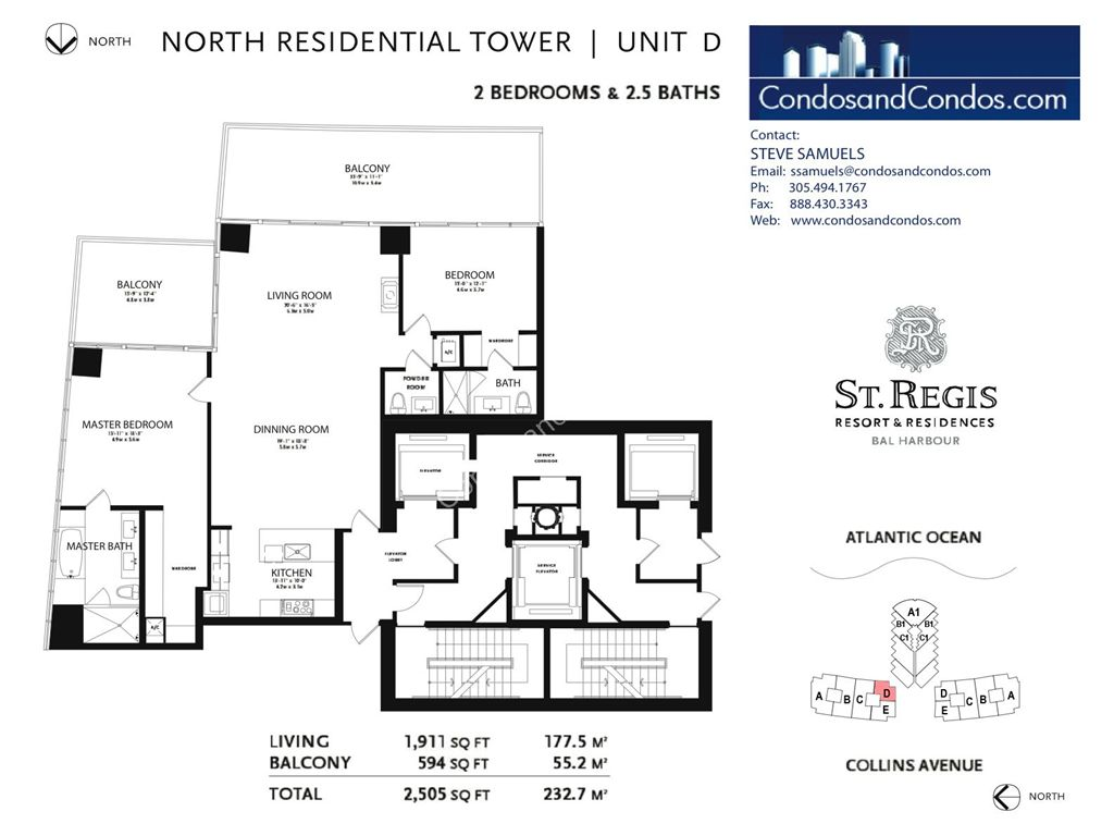 St. Regis Bal Harbour - Unit #C Mod North with 4141 SF