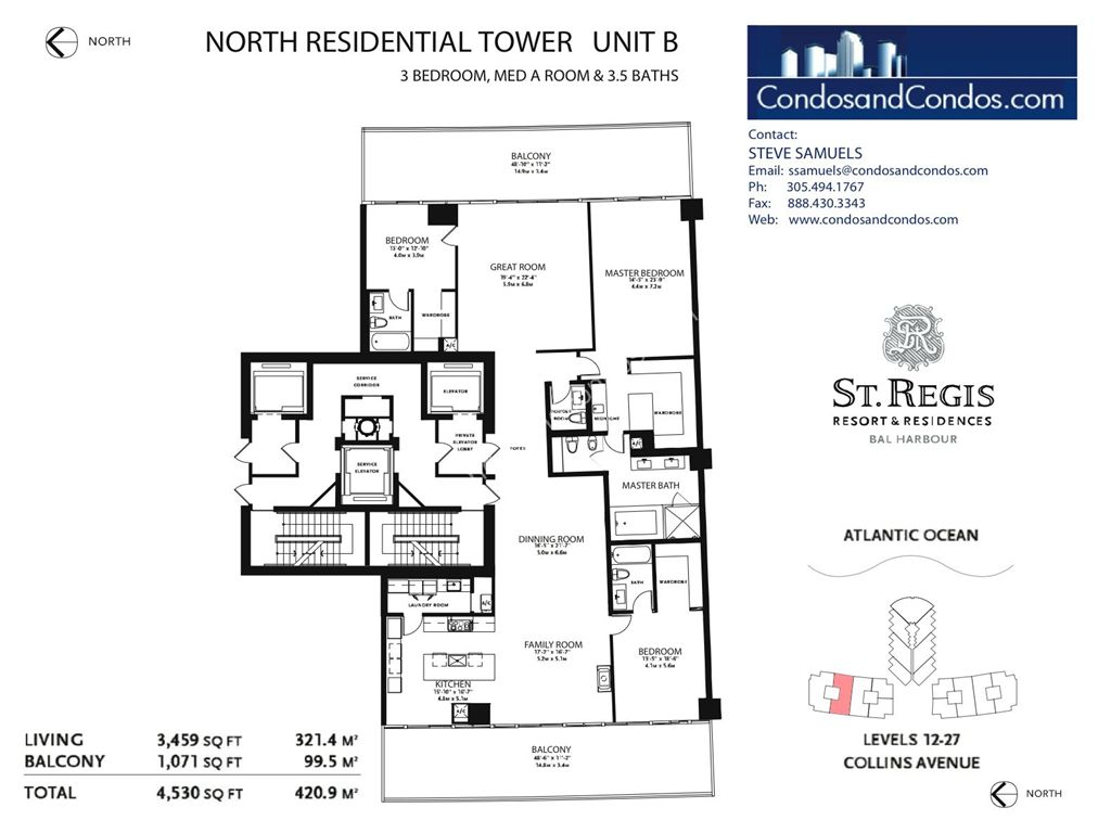 St. Regis Bal Harbour - Unit #A North with 5016 SF