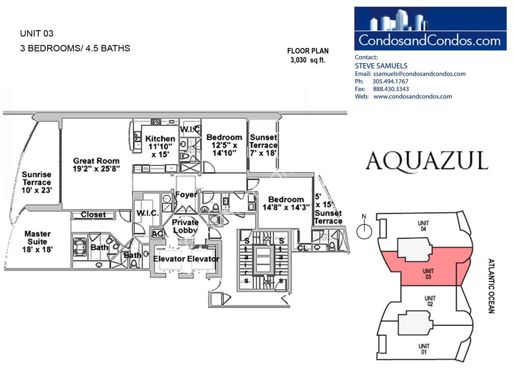 Aquazul by the Sea - Unit #03 with 3030 SF