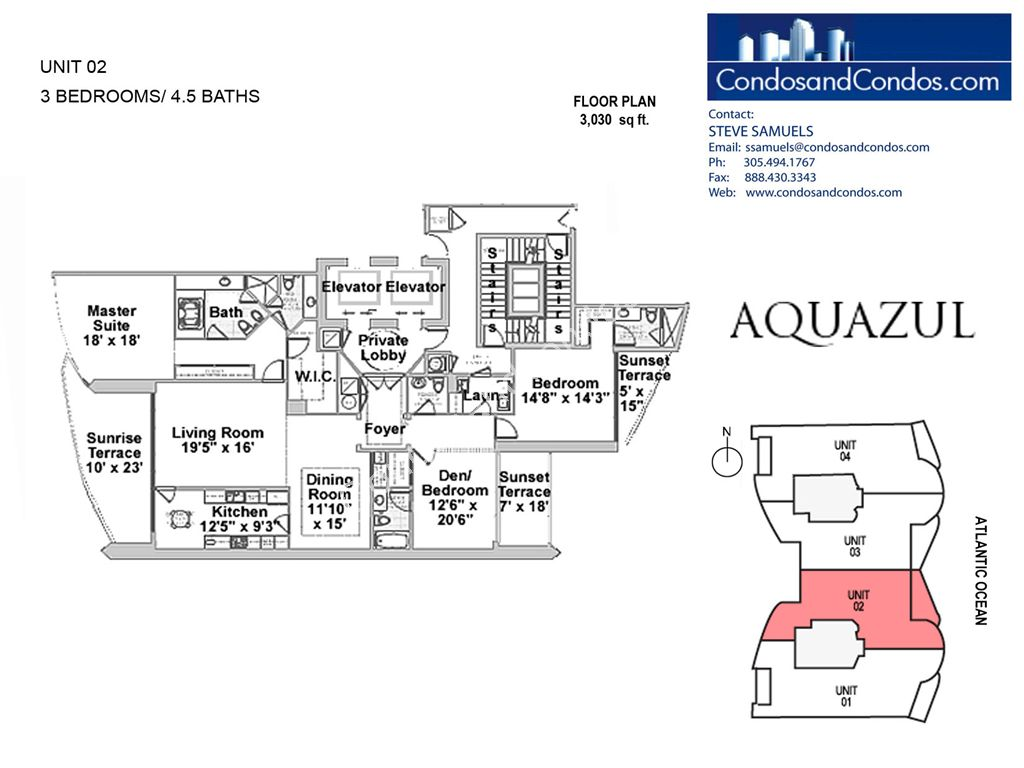 Aquazul by the Sea - Unit #02 with 3030 SF