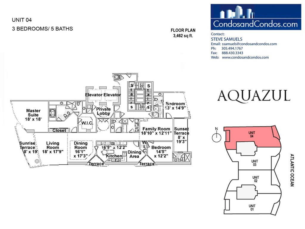 Aquazul by the Sea - Unit #04 with 3462 SF