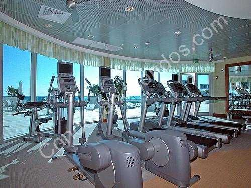 State-of-the-art fitness center overlooking the Ocean