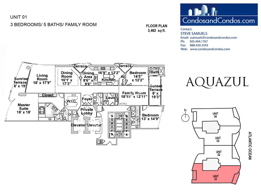 Aquazul by the Sea - Unit #01 with 3462 SF