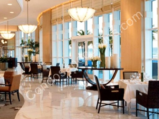 Ritz Carlton signature restaurant with ocean view