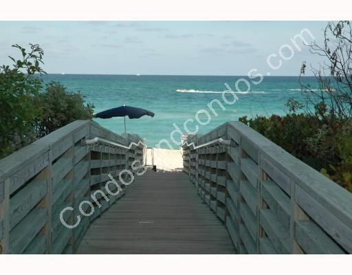 Wooden walk-way leads to beach