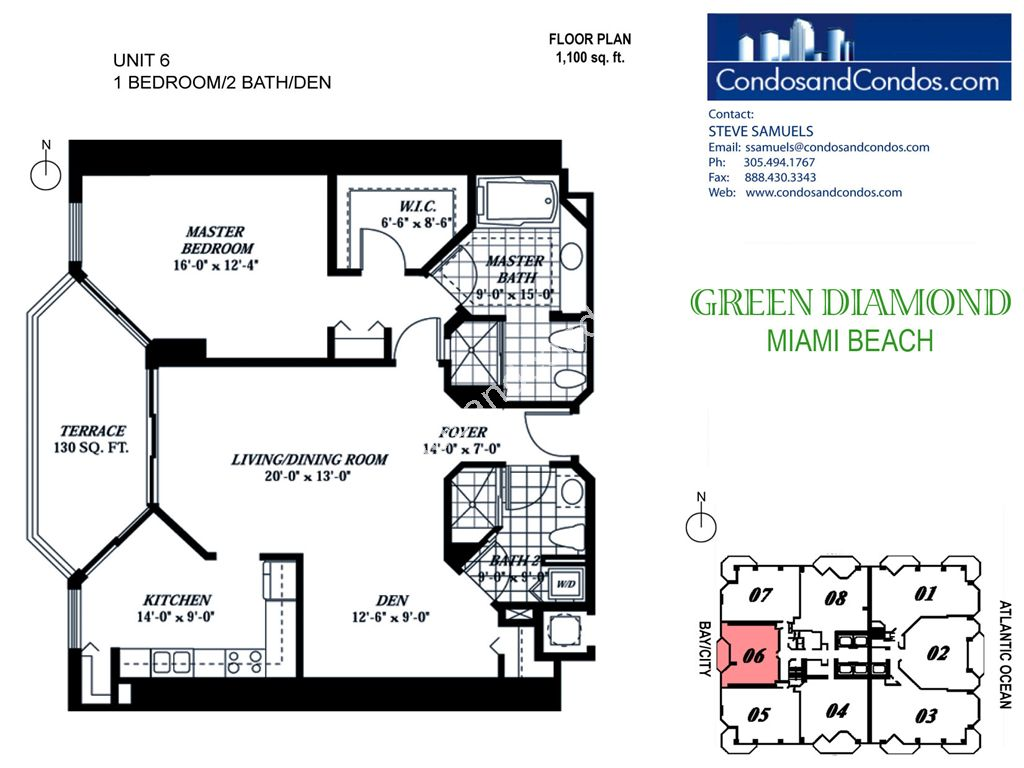 Green Diamond - Unit #06 with 1100 SF