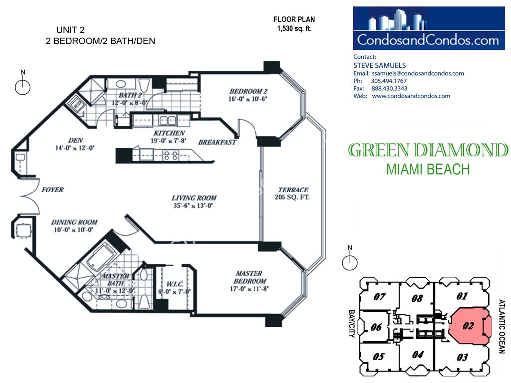Green Diamond - Unit #02 with 1530 SF