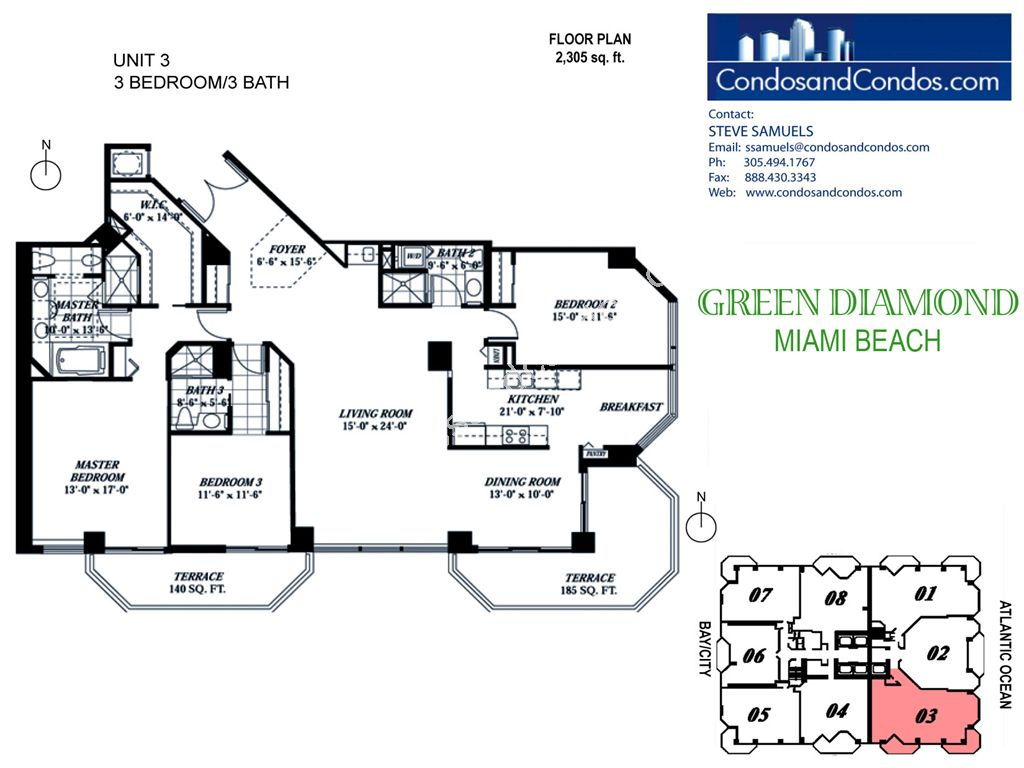 Green Diamond - Unit #03 with 2305 SF