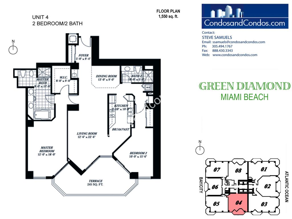 Green Diamond - Unit #04 with 1550 SF
