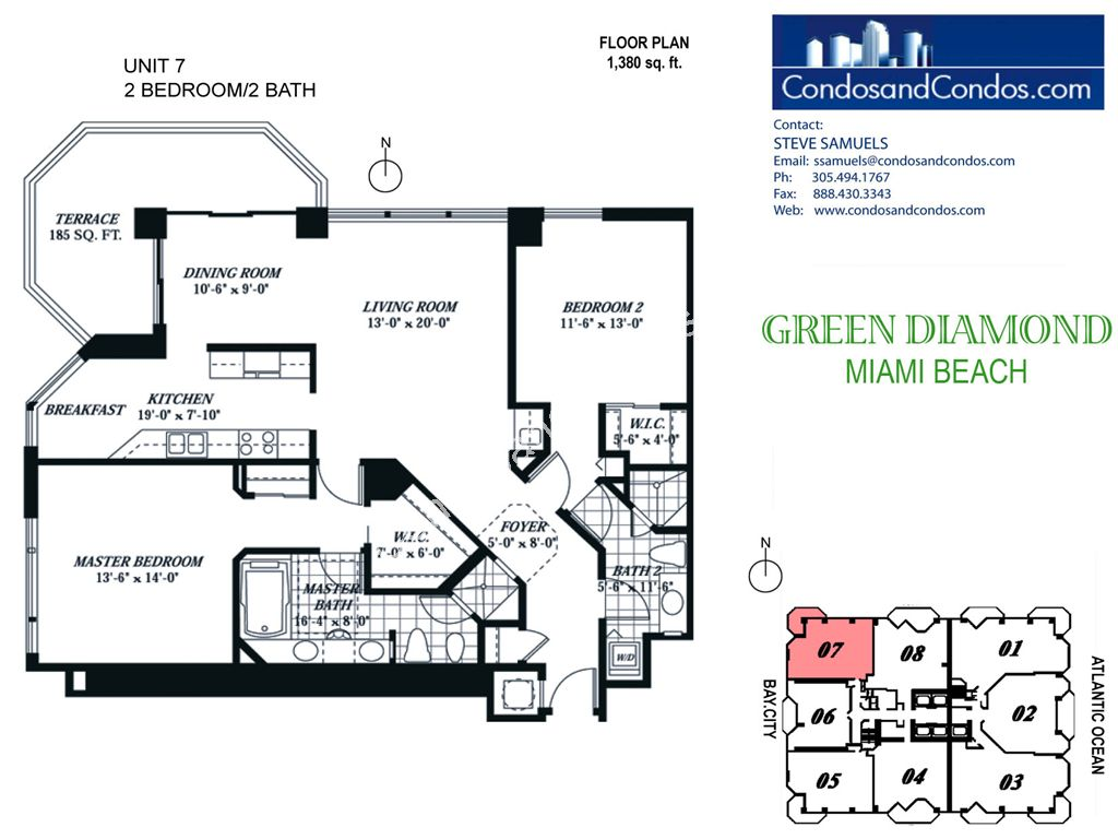 Green Diamond - Unit #07 with 1380 SF
