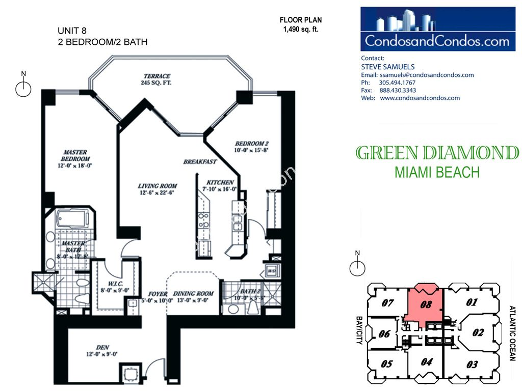 Green Diamond - Unit #08 with 1490 SF