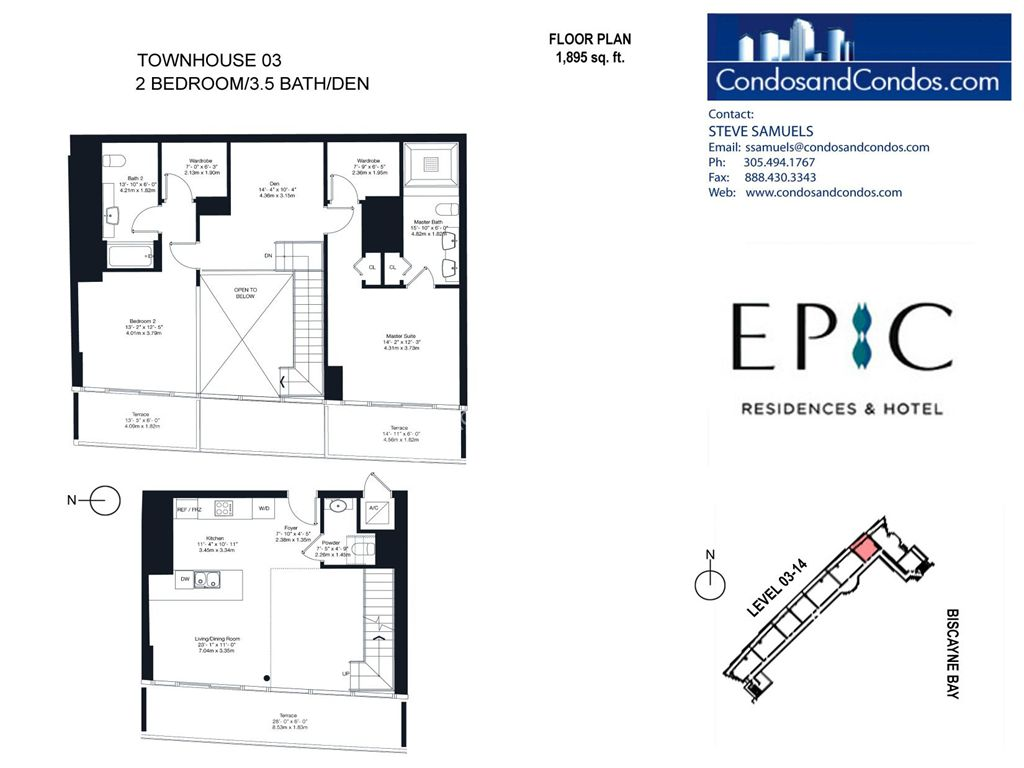 Epic Residences - Unit #Townhouse (3-14) 03 with 1895 SF