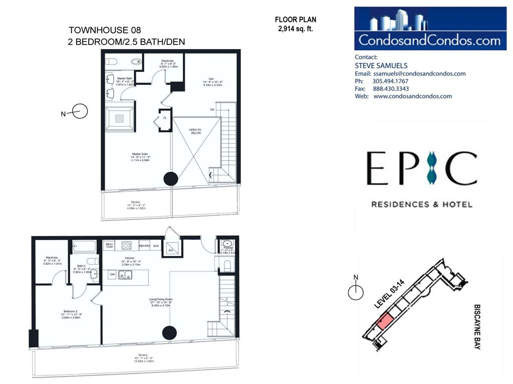 Epic Residences - Unit #Townhouse (3-14) 08 with 2914 SF