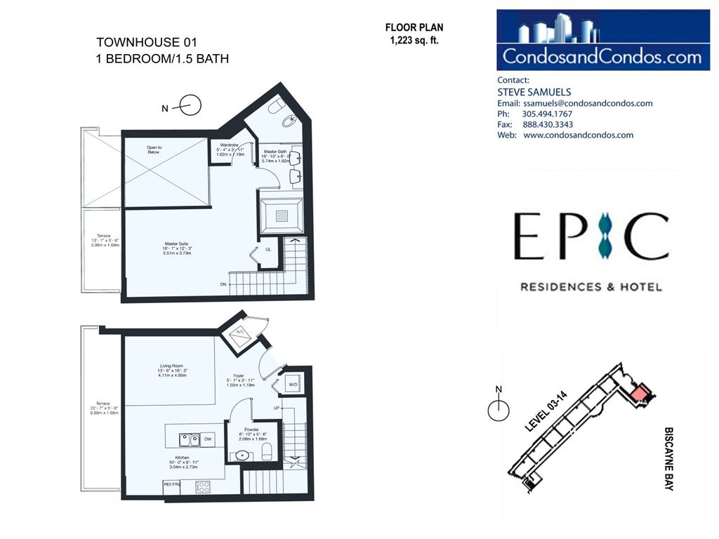 Epic Residences - Unit #Townhouse(3-14) 01 with 1223 SF