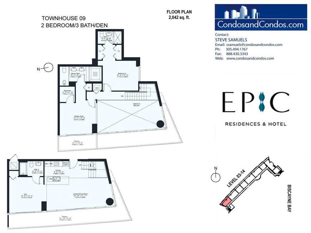 Epic Residences - Unit #Townhouse (3-14) 09 with 2042 SF