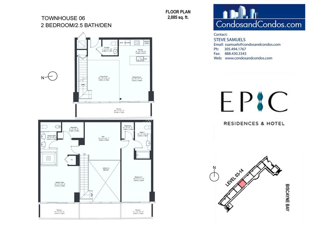 Epic Residences - Unit #Townhouse (3-14) 06 with 2085 SF