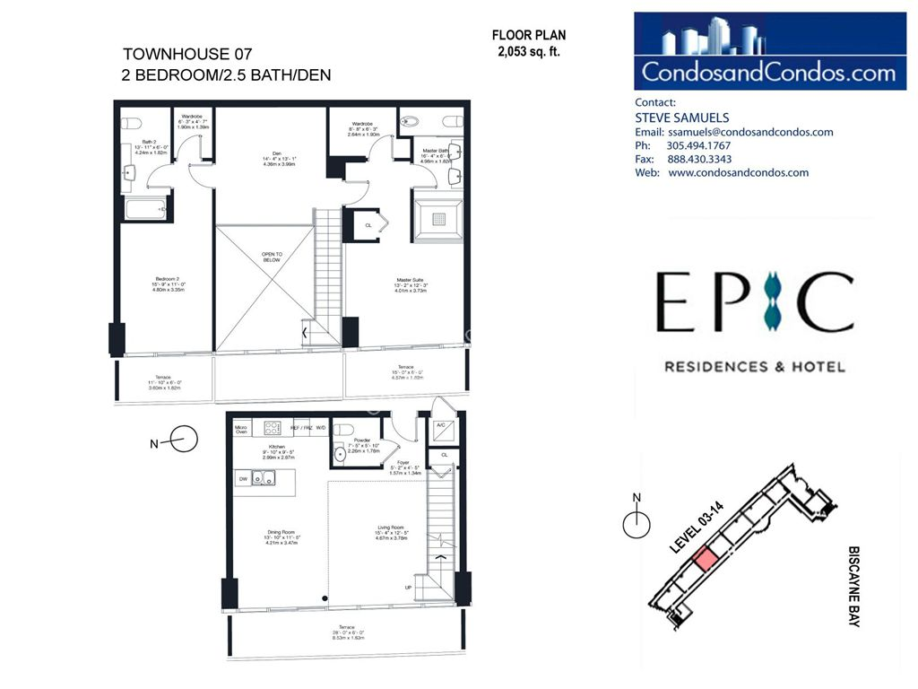 Epic Residences - Unit #Townhouse (3-14) 07 with 2053 SF