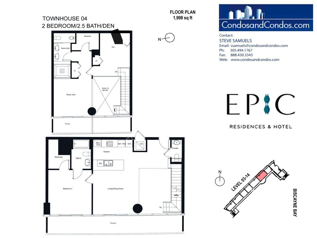 Epic Residences - Unit #Townhouse (3-14) 04 with 1998 SF