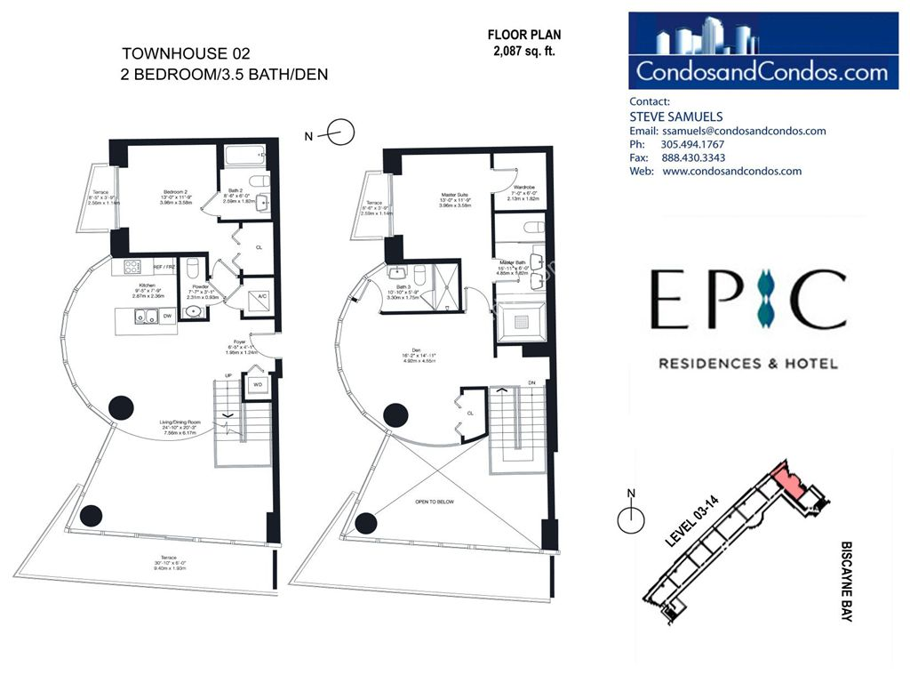 Epic Residences - Unit #Townhouse (3-14) 02 with 2087 SF