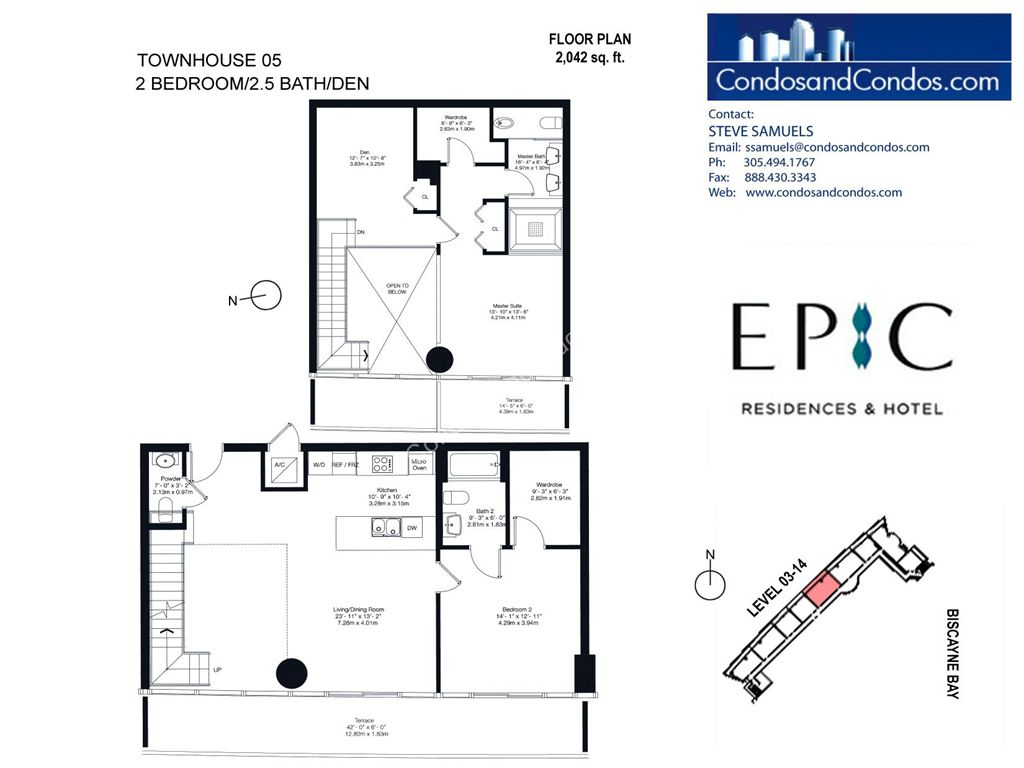Epic Residences - Unit #Townhouse (3-14) 05 with 2042 SF