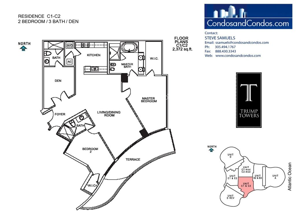 Trump Tower II - Unit #C1-C2 with 2372 SF