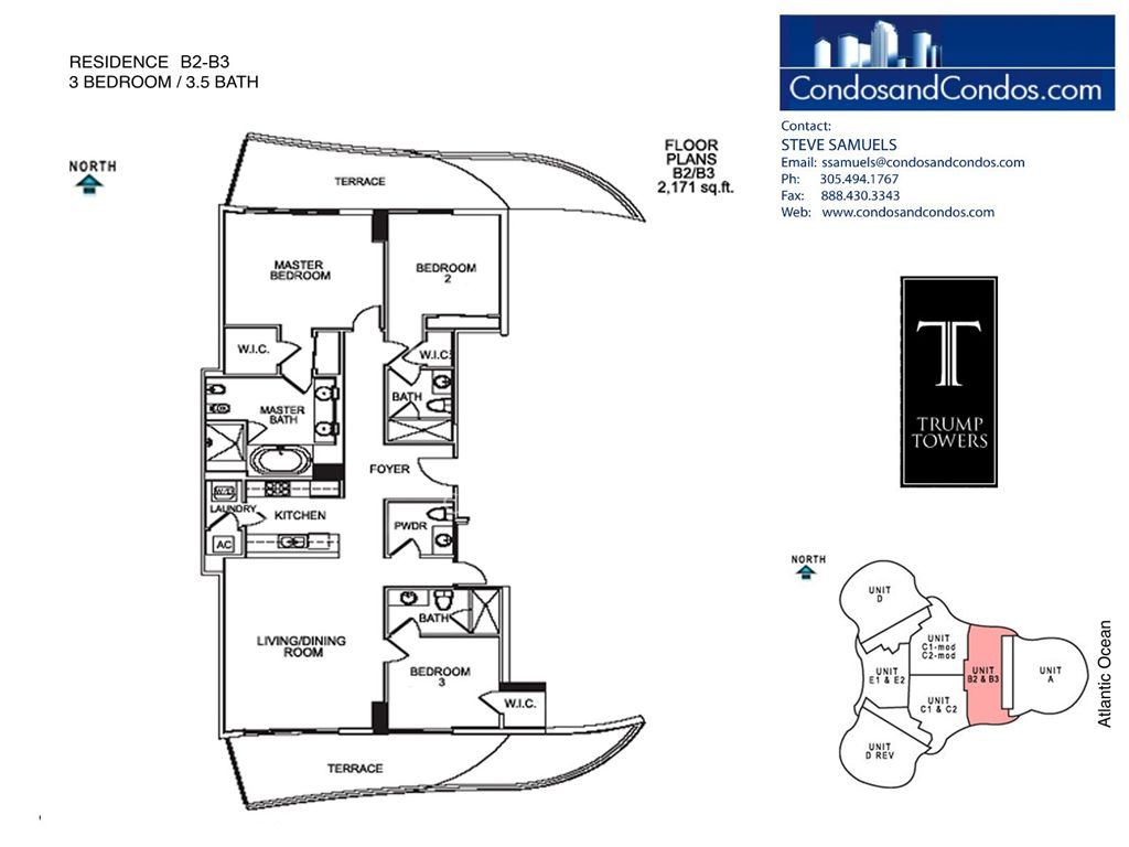 Trump Tower II - Unit #B2-B3 with 2171 SF