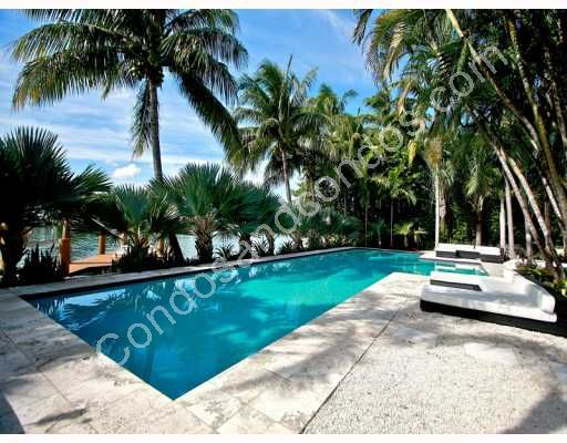 Private heated pool in lush tropical setting