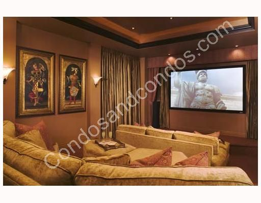 Private theater with plush seating